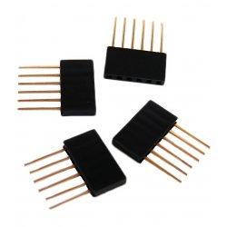 стекируемые контакты 6 контактов 2.54 мм  10 мм pin header мама папа