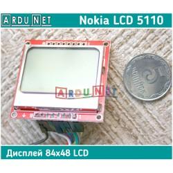 Дисплей графический 84x48 Nokia 5110 LCD  светодиодная подсветка