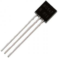 BC547 Транзистор биполярный NPN 45В  100мА to-092