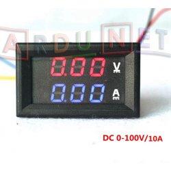 Вольтметр Амперметр цифровий 100в 10а врізний з корпусом