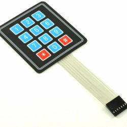 мембранная клавиатура 12 кнопочная 3*4 Matrix Keyboard Key Membrane Switch Keypad