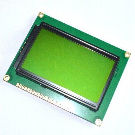 Экран LCD  12864 желто-зеленый ST7920  дисплей Display с подсветкой 128 × 64