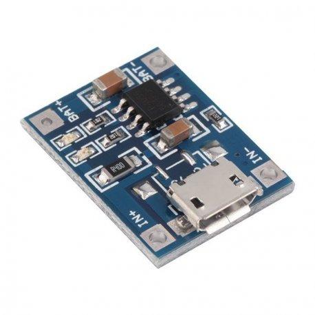 TP4056 Модуль зарядки литиевых батарей Li-Ion, Li-Po 4,2В, 1А  18650  микро USB micro