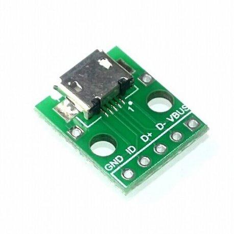 Адаптер переходник MICRO USB to DIP Adapter 5pin female