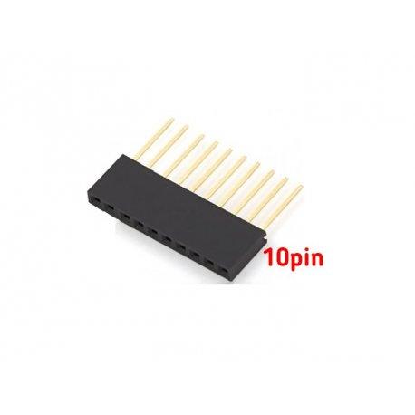 стекируемые контакты 10 контактов 2.54 мм  10 мм pin header мама папа