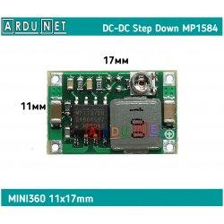 DC-DC міні перетворювач mp1584en mini360 регульований вх 4.5-28V вих 0.8-20