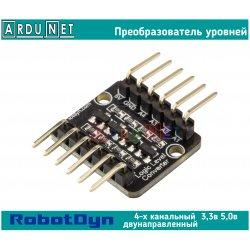Преобразователь логических уровней ROBOTDYN 5В 3.3В i2c SPI UART двунаправленый 4 канала