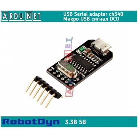 Адаптер micro USB to UART ch340 5v dcd rst модуль Module usb2ttl arduino RobotDyn