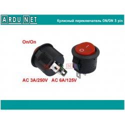 кулисный переключатель вкл выкл  3-Pin 250V3A 125V6A ON-OFF черный пластик тумблер разъем