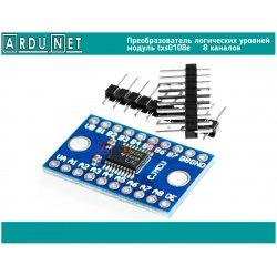 Преобразователь логических уровней 5В 3.3В  двунаправленый 8 каналов  модуль TXS0108E конвертер