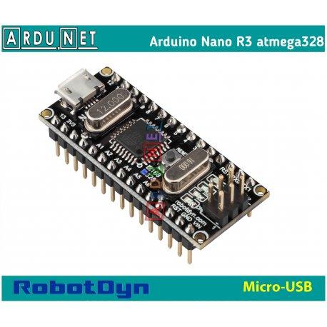 ARDUINO Nano R3 v3.0 microUSB atmega328 5В 16Мгц ардуино нано ch340 5v ROBOTDYN
