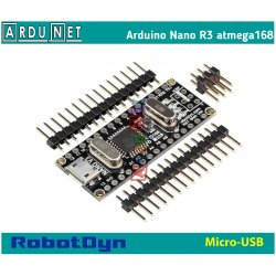 ARDUINO Nano R3 v3.0 microUSB atmega168 5В 16Мгц ардуино нано ch340 5v RobotDyn