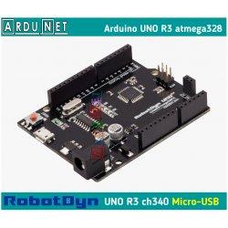 Arduino UNO R3 Atmega328 ATmega328P smd  AVR Ардуино Уно Р3  RobotDyn A6-A7
