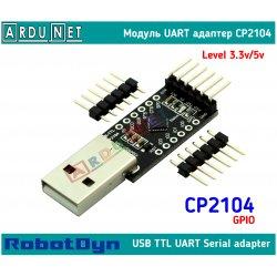 Адаптер USB to UART cp2104 3.3v 5v dcd rst модуль Module usb2ttl arduino gpio RobotDyn