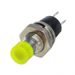 мини кнопка вкл выкл SPST 2-контакта  0,5А 50VAC 50В 500мА  ON-OFF ЖЕЛТЫЙ