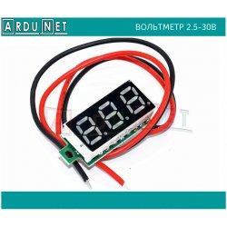 """вольтметр 2,5-30в миниатюрный 3 разряда индикация напряжения батареи дисплей 0,28"""""""