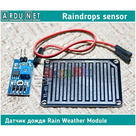 датчик дождя погодный модуль Rain Weather Module Raindrops