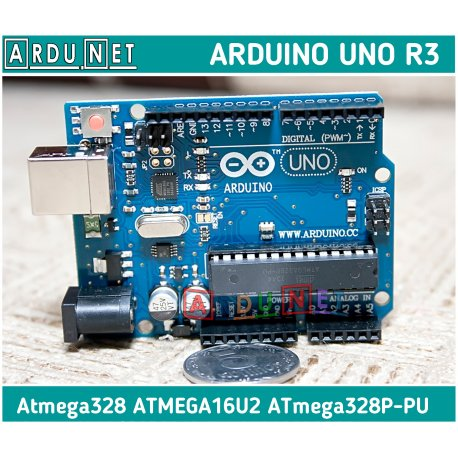 Arduino UNO R3 Atmega328 ATMEGA16U2 ATmega328P-PU 16Мгц USB AVR Ардуино Уно
