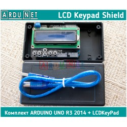 LCD Keypad Shield модуль Arduino з 1602 LCD 16 симв 2 рядки Ардуіно