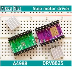 Драйвер крокового двигуна A4988 35В +радіатор driver step motor