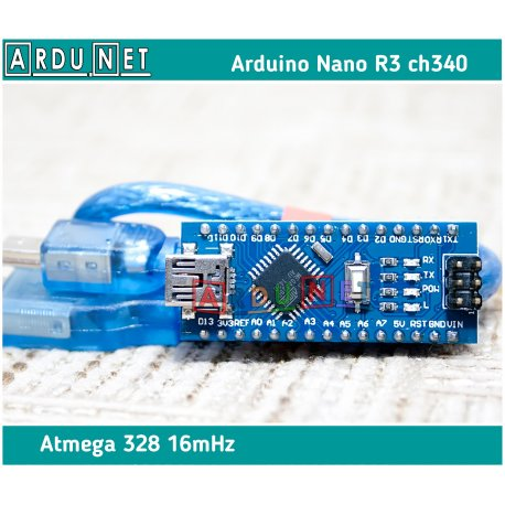 ARDUINO Nano R3 v3.0 +кабель atmega328 5В 16Мгц ардуино нано ch340 5v
