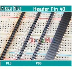 PLS-40 гніздо мама круглый round Планка штирьова на плату пряма крок 2.54мм, 1ряд, 40 контактів