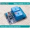реле 2-x 5в двуханальное  модуль 2 relay module 5v