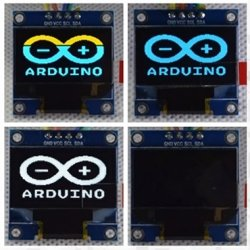 Дисплей желто-синий LCD OLED 0.96'' 128x64 I2C