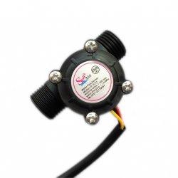 датчик потока расхода воды расходомер YF-S201 flowmeter Hall flow sensor Water control 1-30L/min 1,75MPa
