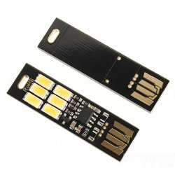 Портативный мини USB Сенсорный 6 светодиодный фонарик