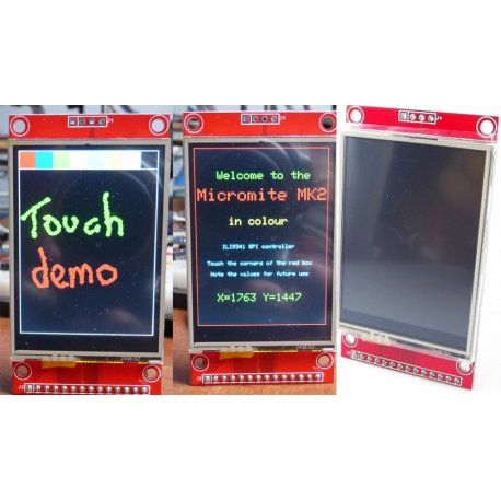 """Дисплей сенсорный  2.4"""" SPI 240x320 LCD touch XPT2046 экран LCD"""