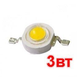 Светодиод 3W 3Вт БЕЛЫЙ 6000-6500 К 180-200LM 3.2-3.4 В 700mA LED WHITE